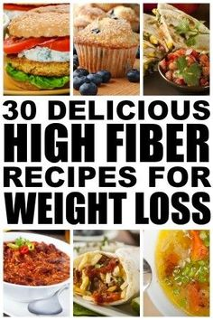 We all know high fiber foods are fabulous for constipation, but not every knows they are good for weight loss as well, and that's why we've gathered together this list of 20 delicious and healthy snacks and meals for weight loss! These recipes are easy to make and will leave your belly feeling full longer so you can put an end to mindless eating and combat your sugar addiction once and for all!