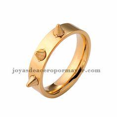 anillo de dorado estilo punk en acero inoxidable -SSRGG971696
