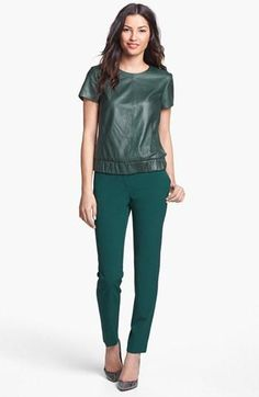 Fall fashion: Emerald, head to toe.
