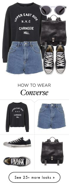 """Untitled #4499"" by laurenmboot on Polyvore featuring Topshop, Proenza Schouler, Converse and Illesteva"