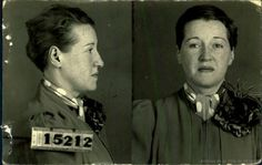 1940s:  Mugshots of Prostitutes of Montreal