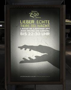 [4/4] Esta serie de gráficas del Zoo buscan invitar a las personas a visitar sus animales. La #solucion representar a animales con gestos y mímicas.