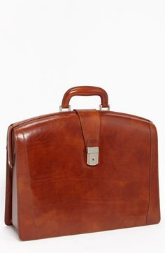 Men's Bosca Triple Compartment Leather Briefcase - Brown