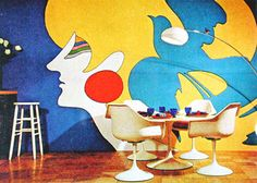 We ate at a table and chairs like these every day and were usually told off for spinning around on the chairs