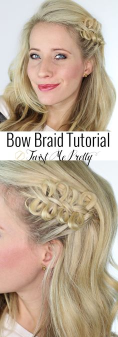 The bow braid from Hunger Games isn't just for kids.  Come checkout how Abby at Twist Me Pretty styled it to look great on women too!