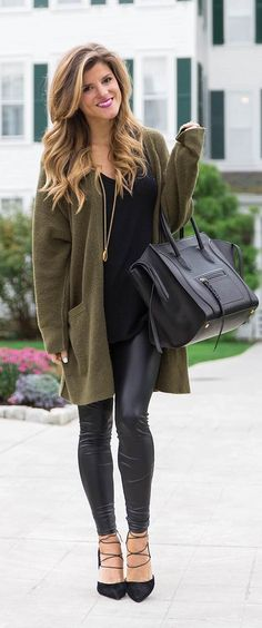 how to wear leather leggings on the blog today