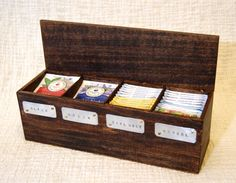A personal favorite from my Etsy shop https://www.etsy.com/ca/listing/248533625/tea-box-tea-chest-wooden-tea-box-tea