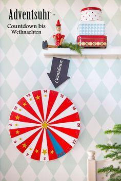 DIY Adventsuhr – ein Countdown bis Weihnachten für Kinder selber basteln Christmas Deco, Winter Christmas, Xmas, Diy For Kids, Crafts For Kids, Diy Crafts, Countdown Calendar, Advent Calendar, Enjoy The Silence