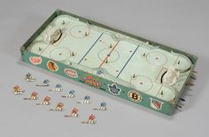 Loved our table-top hockey game! Such fun! Hockey Games, Ice Hockey, Retro Toys, Vintage Toys, Blackhawks Hockey, Wayne Gretzky, Those Were The Days, Old Games, 7th Birthday
