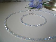Handmade Swarovski Clear AB Crystal Aurora Set; £75.00; Free UK Delivery; http://www.bellachoice.com/2013-cheap-uk-swarovski-crystal-bridal-and-wedding-tiaras-jewellery-bags-and-veils-with-free-uk-delivery/aurora-crystal-set.html