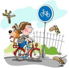 Детские иллюстрации. Велосипедист (Картинки)