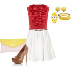 """pop of yellow"" by annhanna on Polyvore"