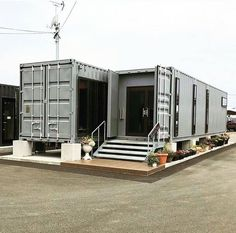 Shipping Container Buildings, Shipping Container Design, Shipping Container House Plans, Tiny Container House, Cargo Container Homes, Building A Container Home, Casas Containers, Container Architecture, Property Design