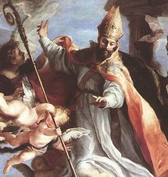 """St. Augustine of Hippo.  """"Lord, you have made us for yourself.  Our hearts are restless until they rest in you.""""  Oh, boy.  Word.  St. Augustine of Hippo, pray for us!"""