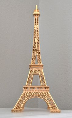 Gold Eiffel Tower Centerpiece Parisians Theme Decor Paris