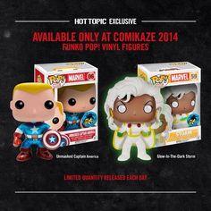 Comikaze Storm and Captain America Exclusive Pops - Visit http://popvinyl.net/pop-vinyl-news/comikaze-storm-and-captain-america-exclusive-pops/ for more information - #funko #popvinyl #Funkopop #2014, #America, #Captain, #Comikaze, #Funko, #Gitd, #Pop, #Storm, #Unmasked