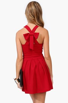 Omg need this right now. Red bow dress
