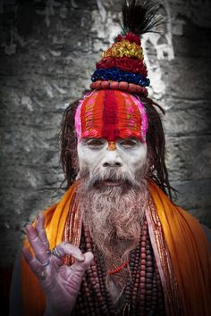 //Sadhu in India #world #faces