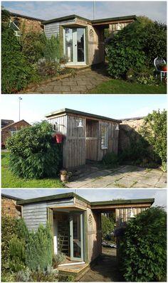 #Garden, #House, #PalletCabin, #RecycledPallet