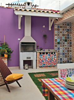 One of the best ways to improve your outdoor living space is by adding something tat you can enjoy together. This backyard grill ideas will inspire you! Outdoor Rooms, Outdoor Living, Outdoor Decor, Outdoor Kitchen Design, My Dream Home, House Design, Retro, Interior, Home Decor