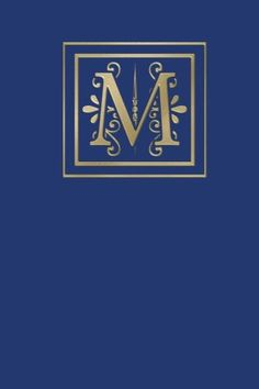 Ruled Monogram Journal M