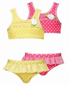 Penelope Mack Kids Swimwear, Little Girls Polka Dot Two Piece