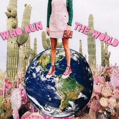 who run the world? | analog collage | cactus | flowers | abby vogel