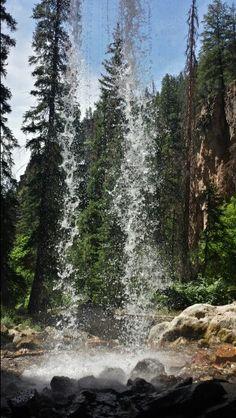 Behind the falls at Spouting Rock - Glenwood Springs, Colorado. #VisitGlenwood http://www.visitglenwood.com/