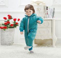 Открыть / unopen файл утолщение комбинезон на зиму хлопка ватник одна часть детей дети лыжный костюм комбинезон 0 2Years 7 цвет купить на AliExpress