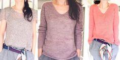 Модный женский пуловер, вязаный регланом от горловины из тонкий пряжи. Как связать легко и просто стильную модную модель женского пуловера спицами лицевой гладью регланом сверху.