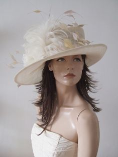Ivory Side Sweep Hat with Crystals from Dress-2-Impress Hat Hire