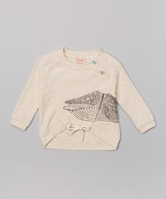 Loving this Oatmeal Whale Organic Raglan Tee - Infant on #zulily! #zulilyfinds