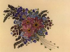 another beautiful dried flower art...