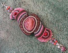 Bracciale rosa diaspro Embroidery Bead di ARTSTUDIO51 su Etsy