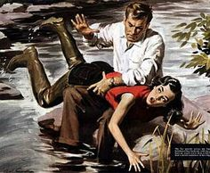 She Broke A Fishing Rule (1950's - Saturday Evening Post) Gone Fishing, Best Fishing, Spanked Wife, Naughty Wife, Spanking Art, Old Fashioned Love, Getting Spanked, Artists For Kids, Good Looking Women