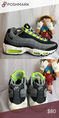 95 NIke air max neon Worn with no box but in great condition.  See all pics for wear. Nike Shoes Sneakers