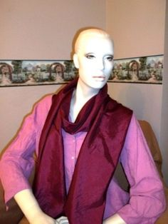 Wine Colored Scarf by TexasLils on Etsy, $15.00