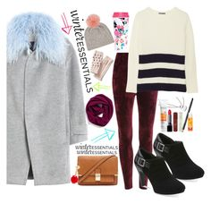 """""""Your Winter Essentials"""" by westcoastcharmed ❤ liked on Polyvore featuring Rebecca Taylor, Halogen, Banana Republic, Forever 21, Vince, Clarks, ban.do, Sophie Hulme, Avon and winteressentials"""