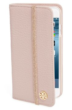 Keeping the iPhone impeccably chic and safe from scuffs and scratches with this pink pebbled-leather folio that doubles as a convenient card organizer.