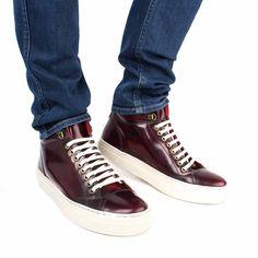 Base London Shoes. Men's Fashion. AW15. AW16 Men's. AW15 Men's. Seasonal & Stylish. Tablet Hi Shine Bordo.