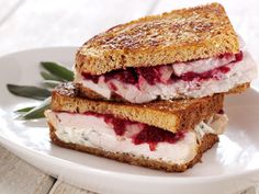 The Pilgrim ~ turkey, orange cranberry compote, sage cream cheese.  This was delicious!  The sage/garlic/cream cheese was fabulous.  I grilled the sandwich on fresh Artisan Pugliese bread, it was great!  Will definitely be making this again.