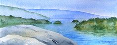 Original Watercolor - View from Quarry Rock, North Vancouver | Flickr - Photo Sharing!