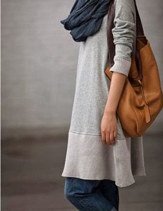 Casual Long Sleeve Cotton Dress for Autumn