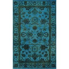 ABC Hand-knotted Aqua Breeze Wool Overdyed 12249 Rug (3' x5') (Aqua), Blue, Size 3' x 5'