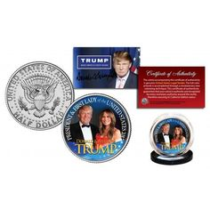 DONALD & MELANIA 45th President & First Lady JFK Half Dollar U.S. Coin – Patriot Products | Selling The Best American Products