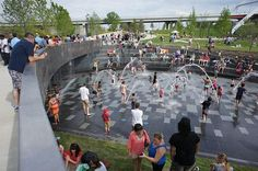 Splash pad in Cumberland Park, Nashville by Hargreaves Associates. Click image for link to full profile and visit the slowottawa.ca boards >> https://www.pinterest.com/slowottawa/