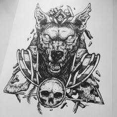 """Postando Anúbis de novo. Sempre bom relembrar. #anubis #skull #pointillism #tattoo #illustration #drawing #stippling #dotwork #art #design"""