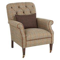 Buy Tetrad Harris Tweed Flynn Armchair, Bracken / Bromton Tan Online at johnlewis.com