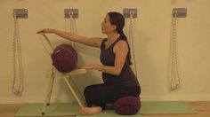 Iyengar yoga sequence with props for pregnancy-2