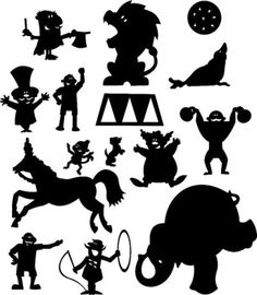 цирк эскизы Circus Carnival Party, Circus Theme, Shadow Art, Shadow Play, Diy Toys And Games, Circus Crafts, Mermaid Vector, Shadow Theatre, Marionette Puppet